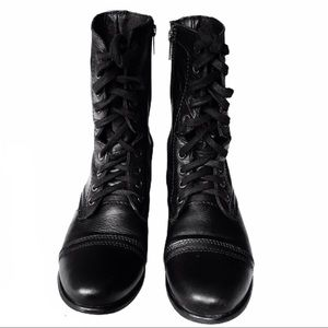 Steve Madden Troopa Black Leather Boot